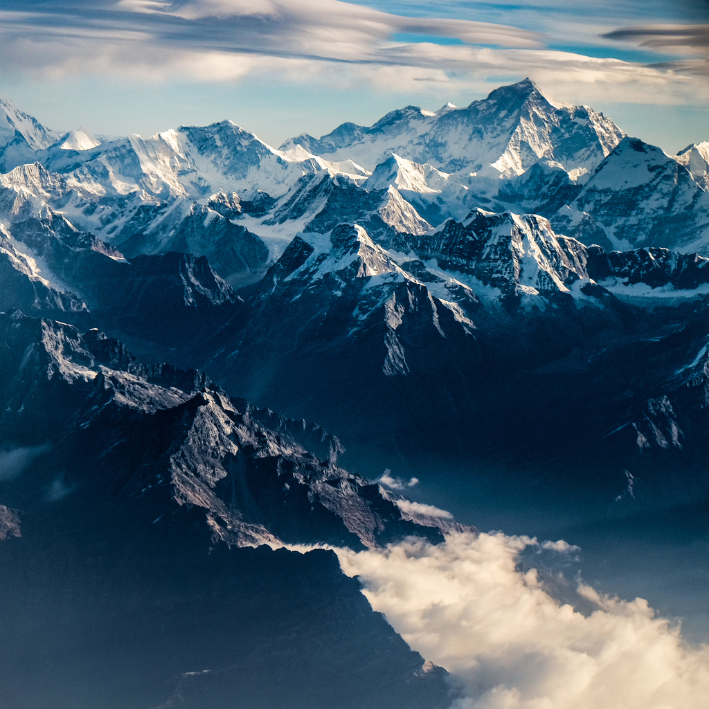 Mountain peak in Nepal shot from an aerial point of view. Photo: iStock