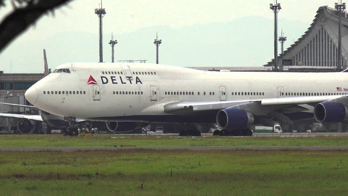 A Delta passenger jet at Taipei's Taoyuan Airport. Photo: Taiwan Central News Agency