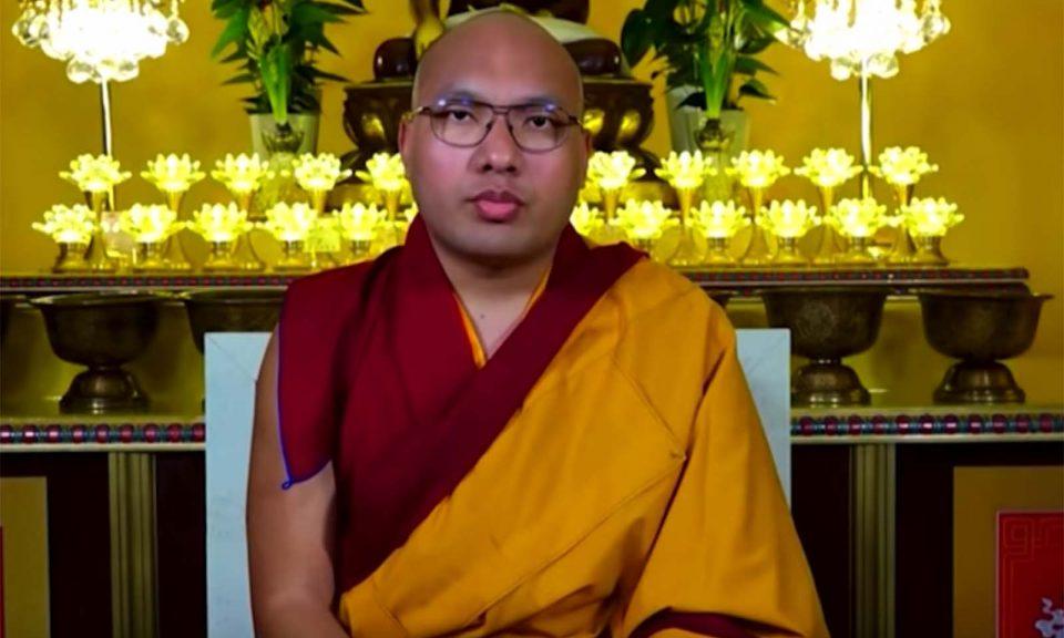 受人尊敬的第17任噶瑪巴表示他希望在美國休息9個月後回到印度。相片:YouTube截圖