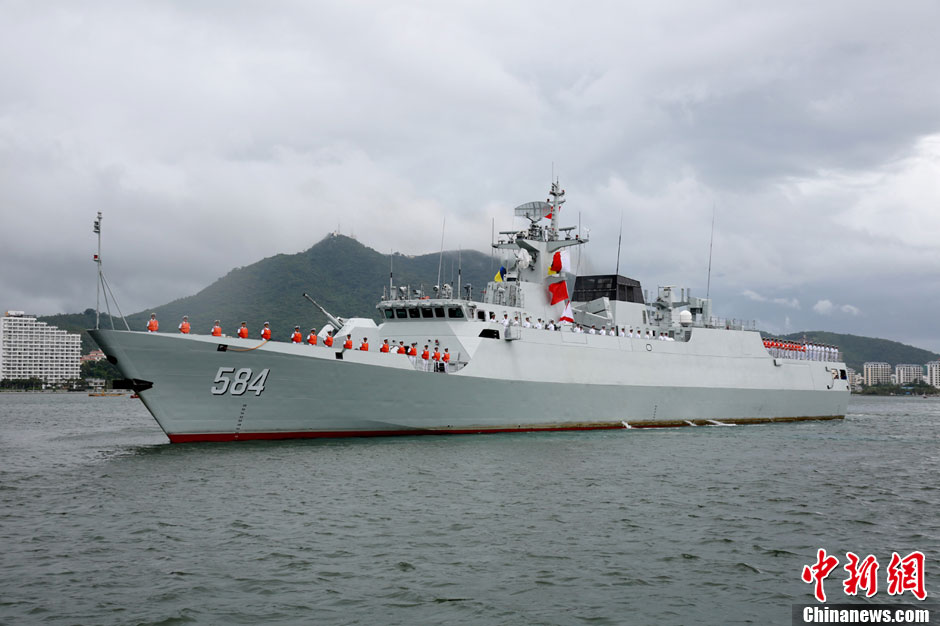 A file photo of the Meizhou, a Type 056 corvette in service with the PLA's South Sea Fleet. Photo: China News Service