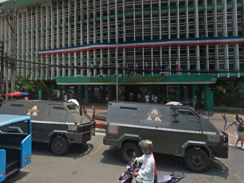 Bureau of Immigration in Manila, Philippines. Photo: Google Maps