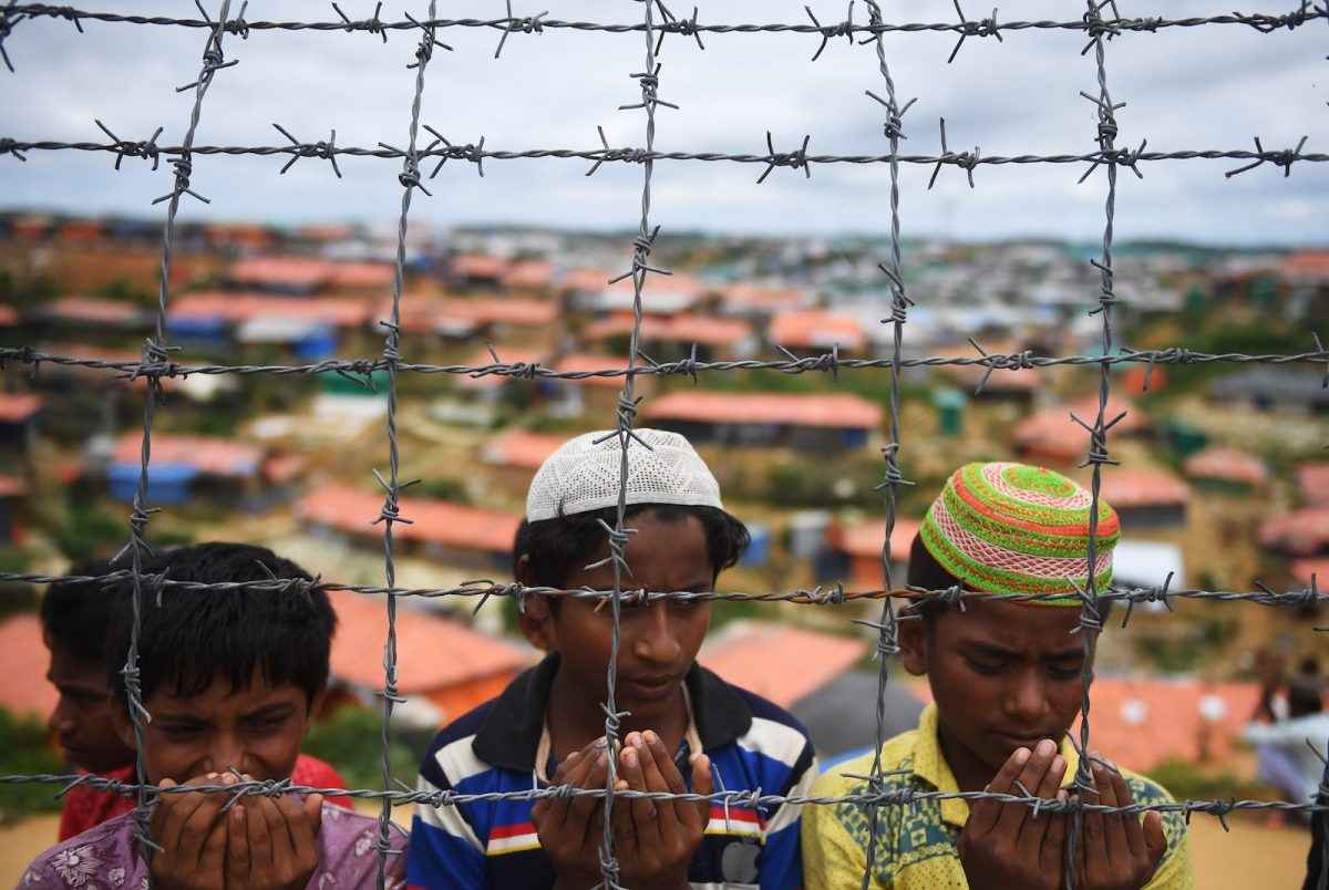 Rohingya at the Kutupalong refugee camp in Bangladesh. Photo: AFP