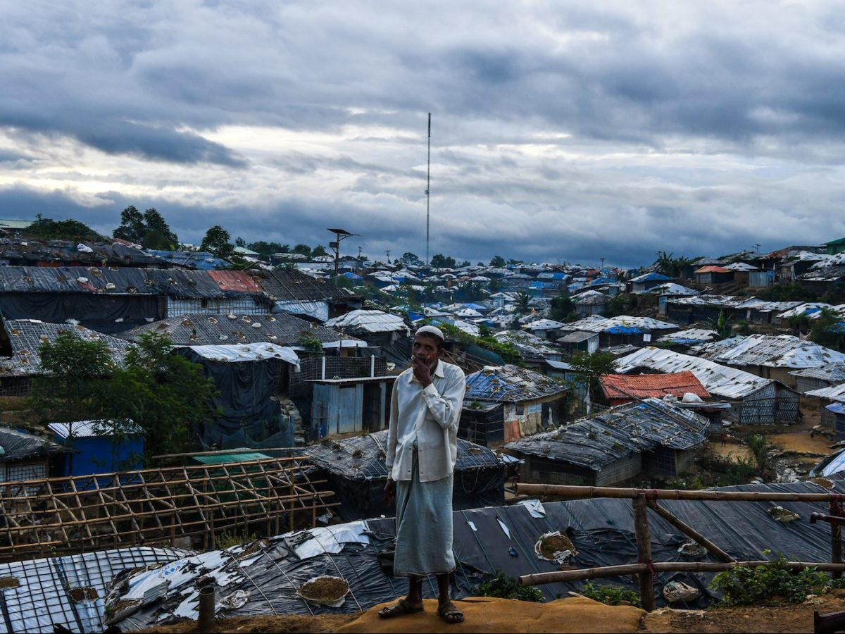 A Rohingya refugee man stands before Kutupalong camp in Ukhia near Cox's Bazar on August 13, 2018.Photo: AFP/Chandan Khanna