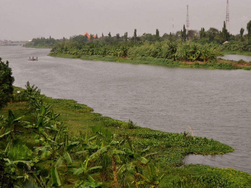 The heavily polluted Brantas river in Indonesia. Photo: Wikimedia Commons/Wibowo Djatmiko
