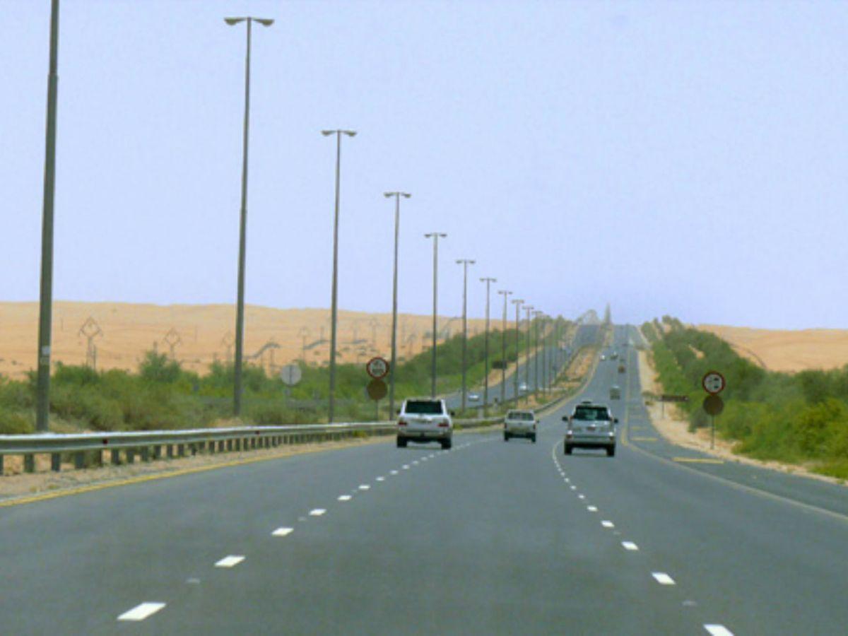 Dubai-Al Ain Road in Al Ain, Abu Dhabi. Photo: Wikimedia Commons