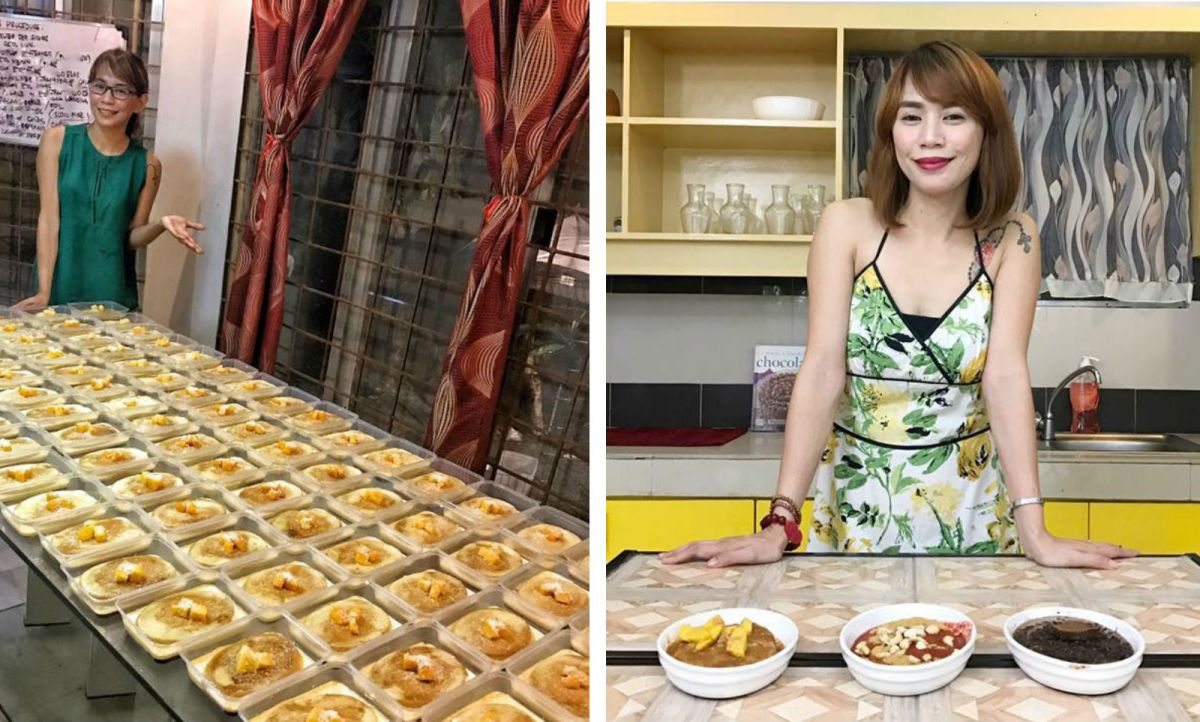 Princess San Diego, a former Filipino migrant worker, failed in at least 14 business ideas until her reinvention of a traditional Filipino dessert started gaining recognition and success. Photo: Facebook (What's Your Flan?)