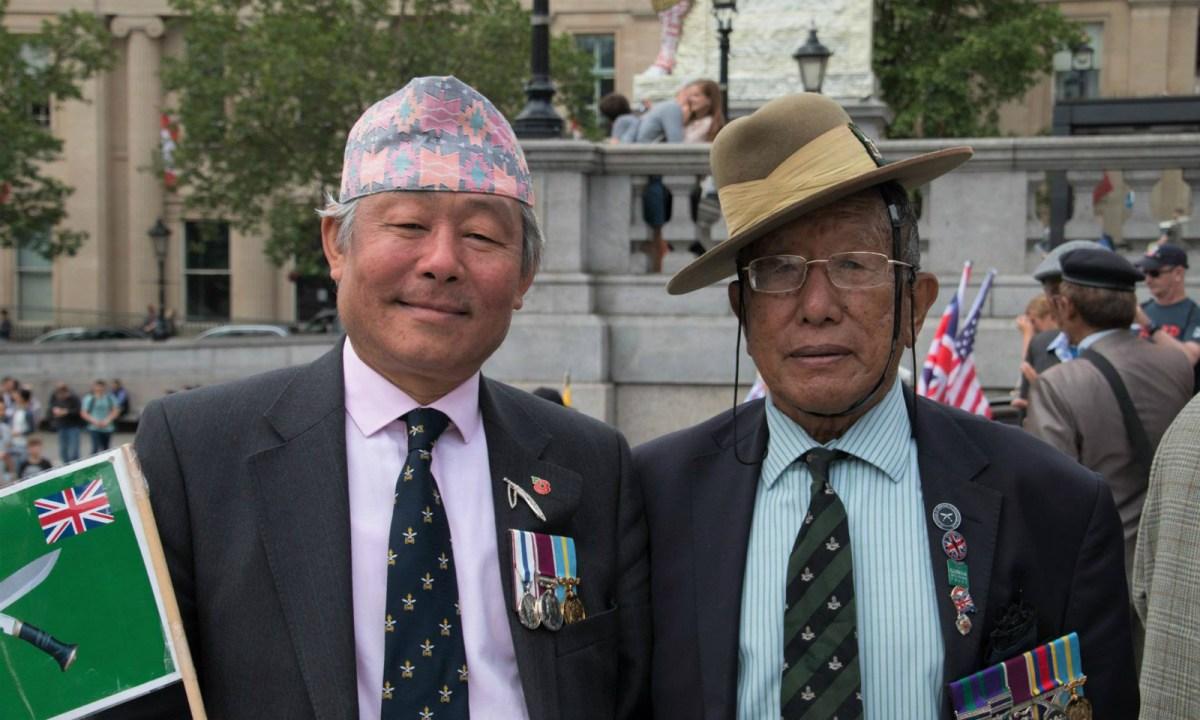 Gyanraj Rai (left), an activist for the rights of Gurkhas Photo: Facebook