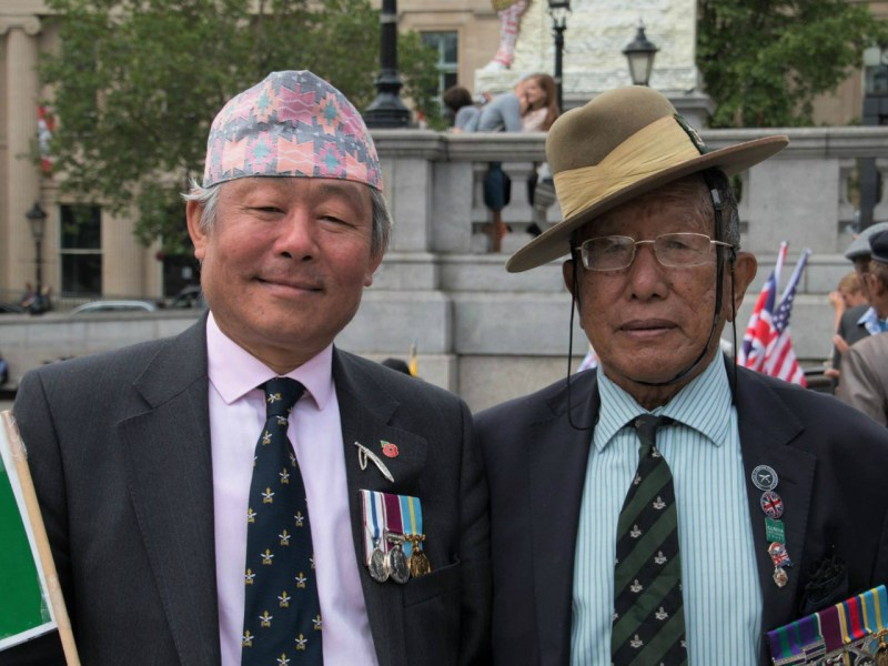 Gyanraj Rai (left), an activist for the rights of Gurkhas Photo: Facebook