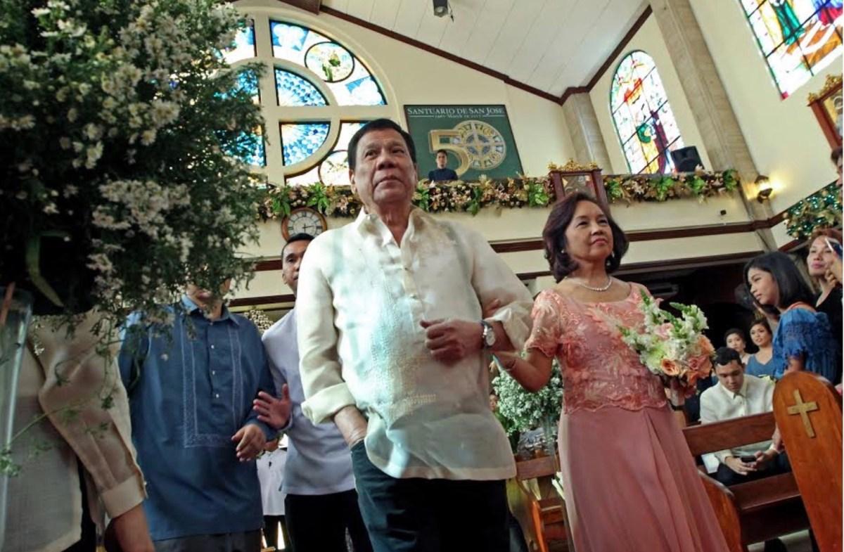 Philippine President Rodrigo Duterte and House of Representatives Speaker Gloria Macapagal-Arroyo in a file photo. Photo: Malacanang Palace