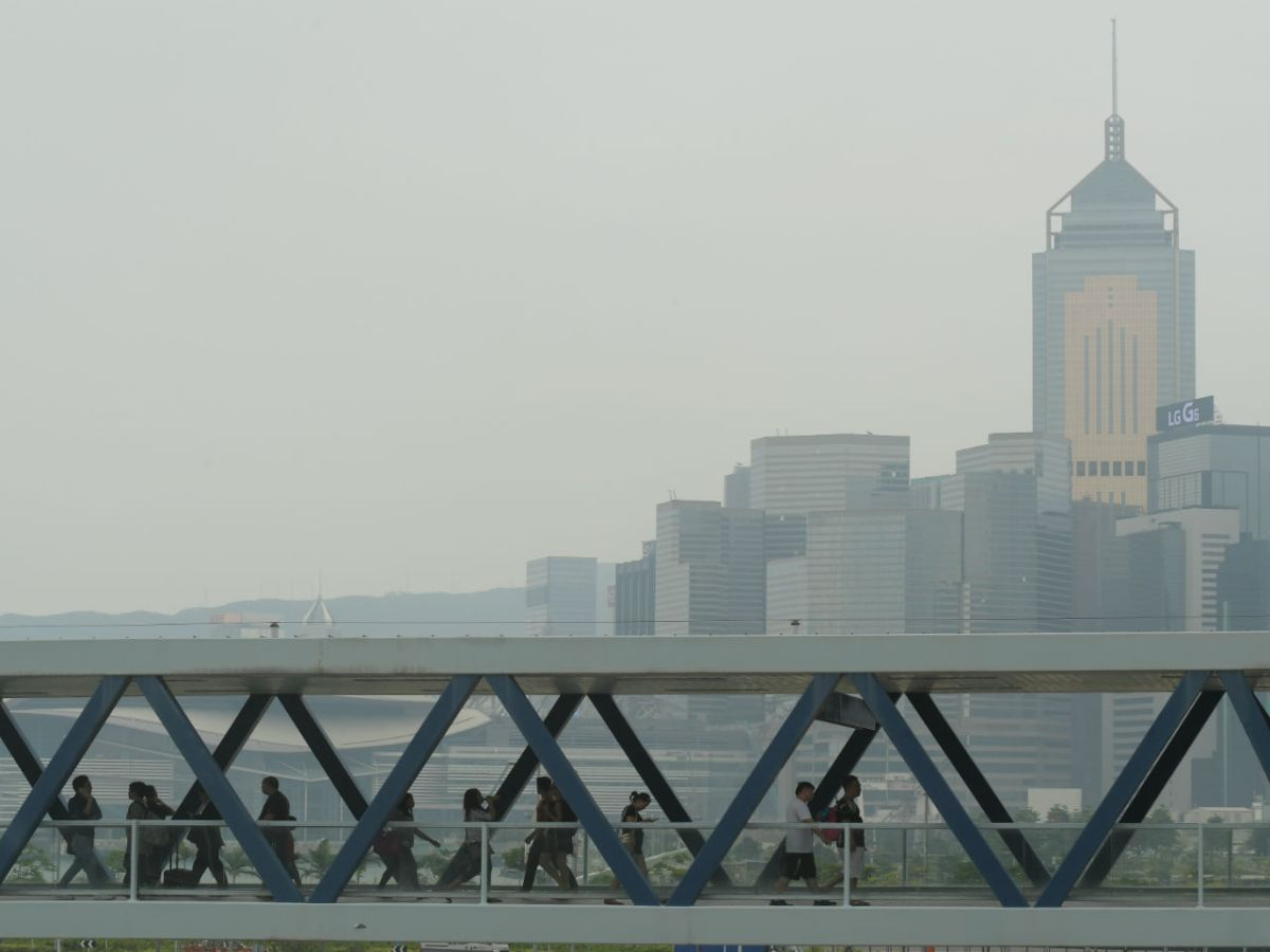 Smog in Hong Kong. Photo: HK Government