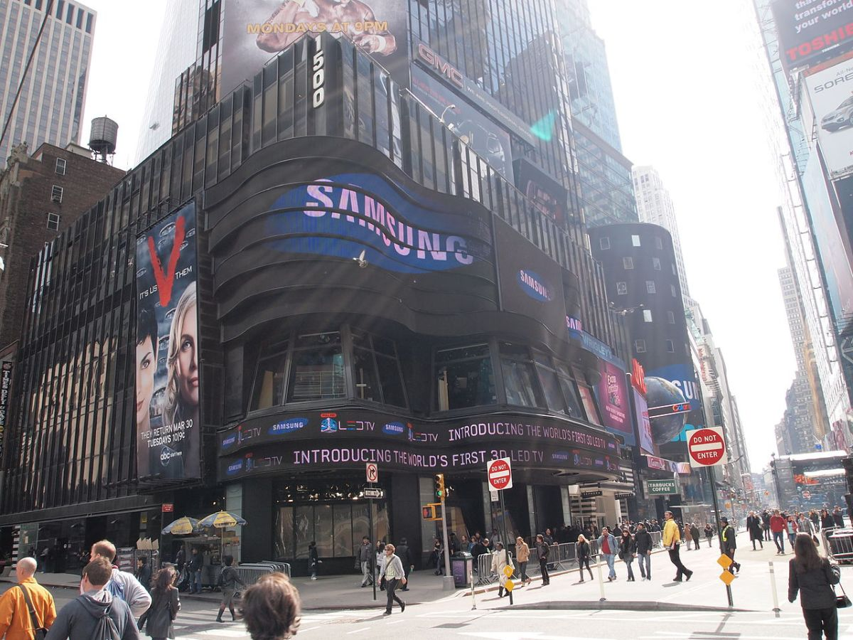 South Korean chaebol Samsung in Times Square in New York. Photo: WikiCommons