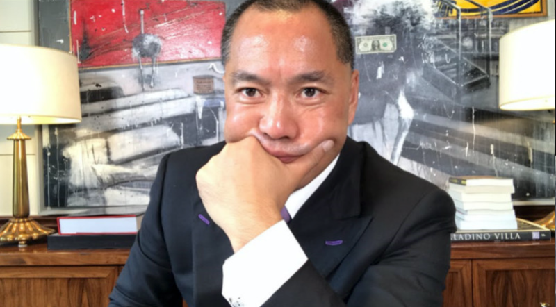Chinese fugitive tycoon Guo Wengui. Photo: Twitter live-streaming screen grab