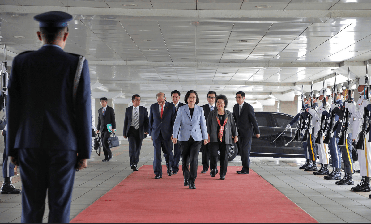 Taiwan President Tsai Ing-wen has been in Los Angeles and will also transit through Houston later this week. Photo: Presidential Office of Taiwan