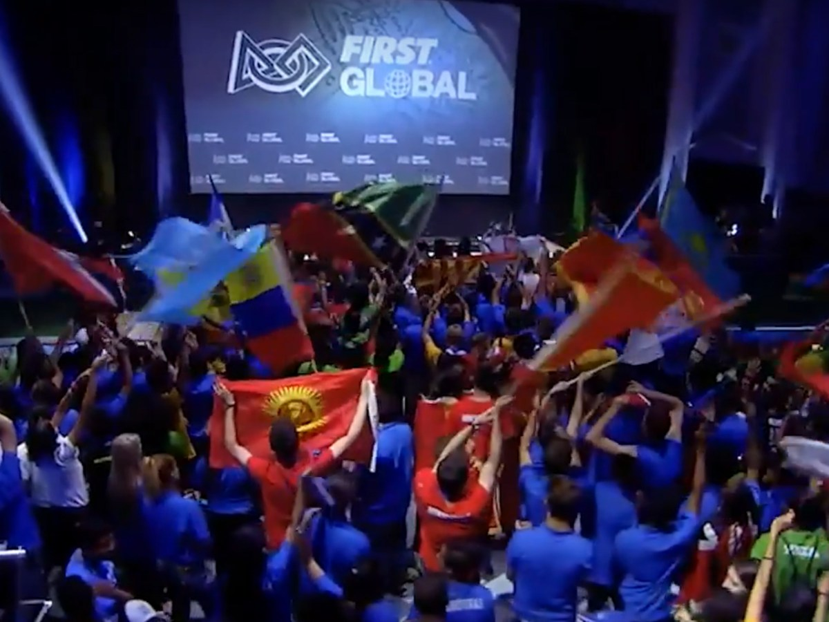 The FIRST Global challenge serves as a platform for children to develop their potential in robotics. Captured from Youtube.