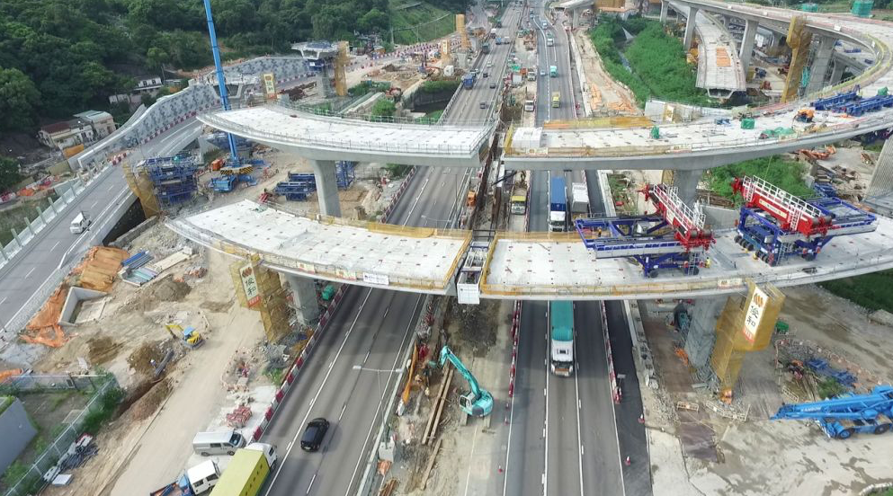 A construction site of the Heung Yuen Wai border checkpoint.  Photo: HK Govt
