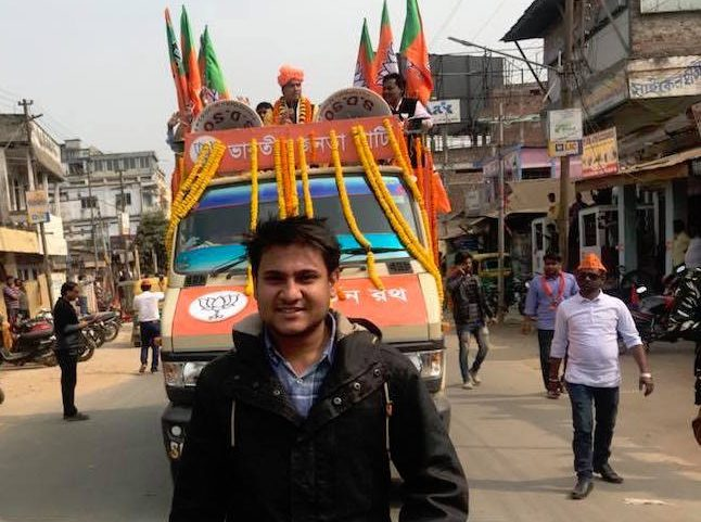 Shivam Shankar Singh, a former member of the BJP, seen in one of the party rallies.