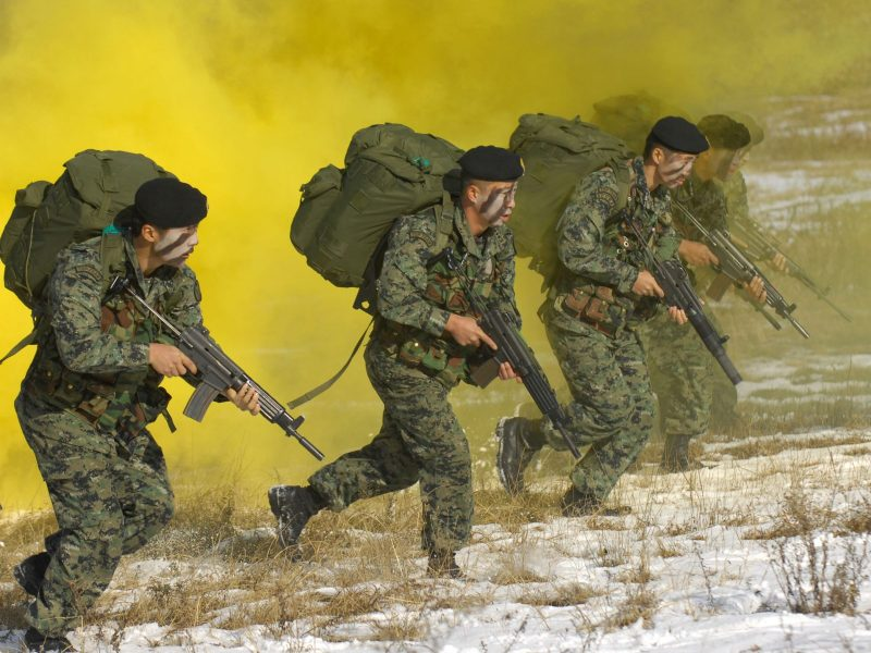 South Korea special forces during a drill on November 22, 2007. Photo: AFP/Kim Jae-hwan
