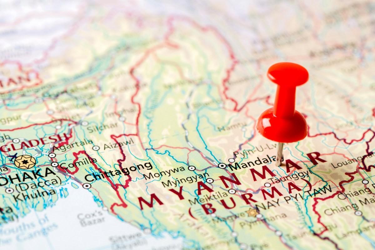 Map of Myanmar: iStock