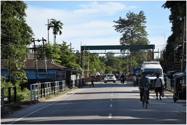 Border crossing in Shantipur, Sadiya, India. Photo: Suraj Gogoi