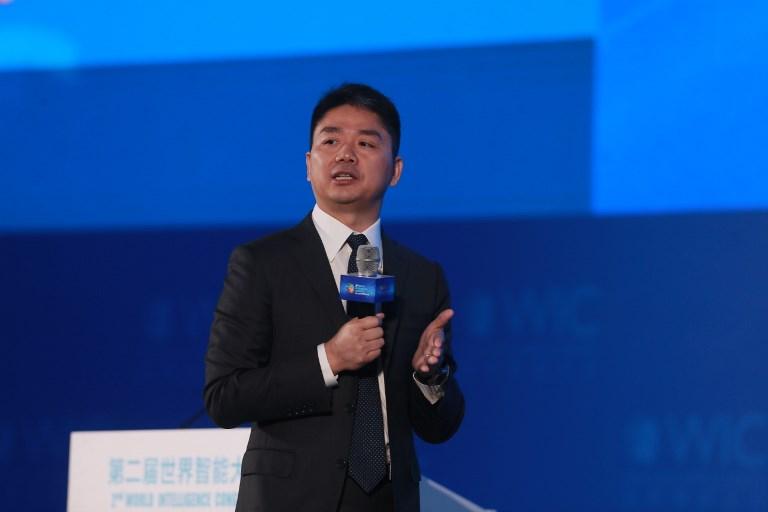 Richard Liu Qiangdong, CEO of online retailer JD.com. Photo: AFP