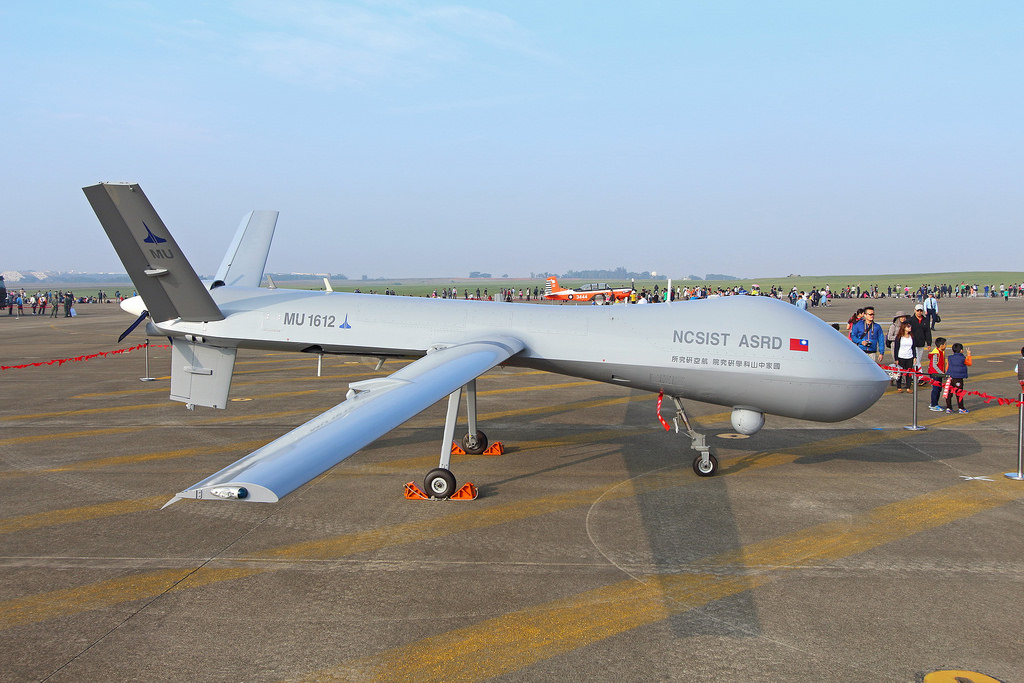 A Tengyun combat drone on display. Photo: Handout