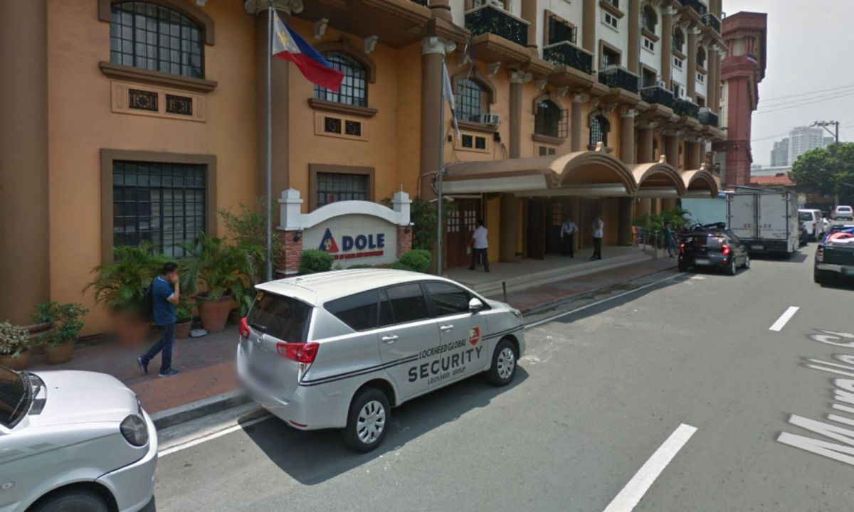The Department of Labor and Employment in Intramuros, Manila. Photo: Google Maps