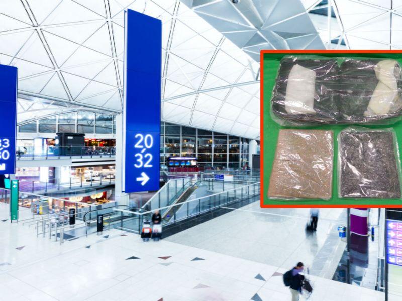 The 13 kilograms of hash seized at Hong Kong airport. Photo: iStock/HK Government