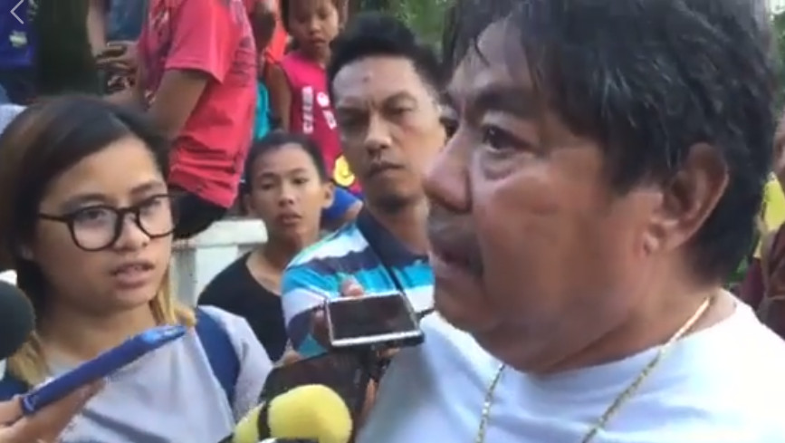 Cebu town Mayor Mariano Blanco. Screen grab of video on The Freeman Facebook page/Clydyl Avila