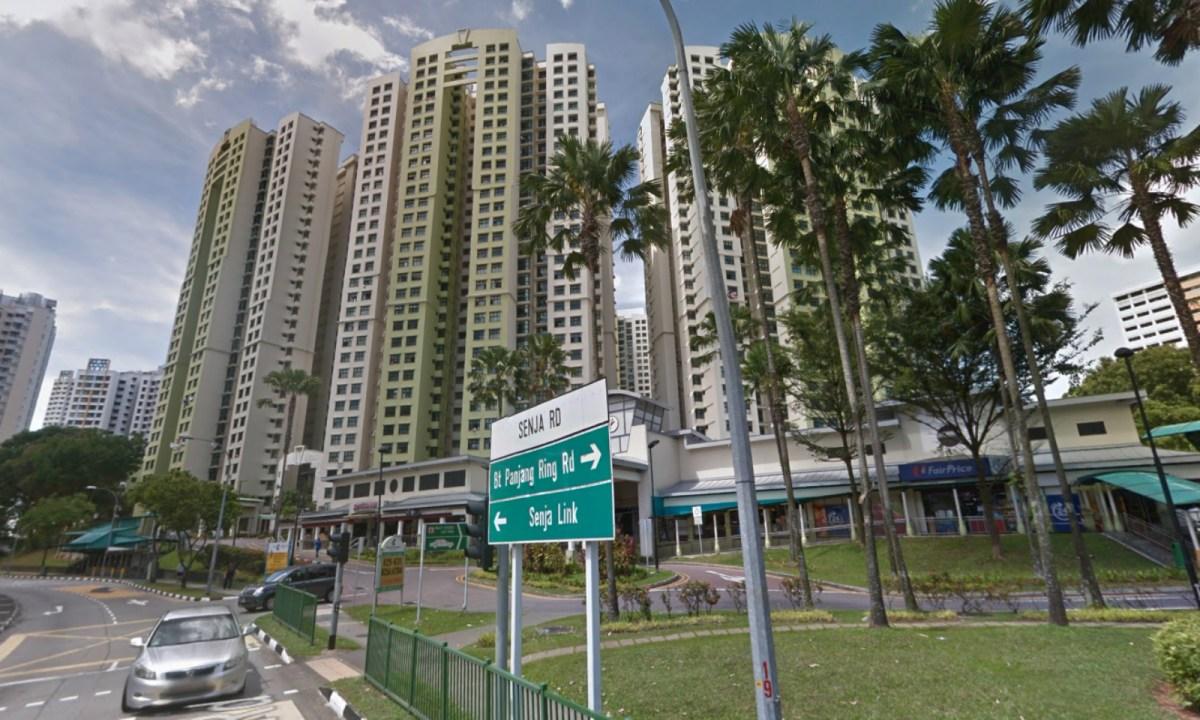 HDB blocks on Senja Road, Bukit Panjang, Singapore. Photo: Google Maps