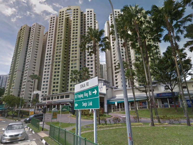HDB blocks on Senja Road, Bukit Panjang, Singapore. Photo: Google Maps
