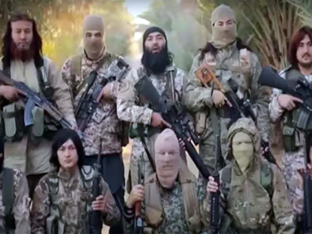 Uyghur jihadis: some shy, some not. Photo: Radio Alwan