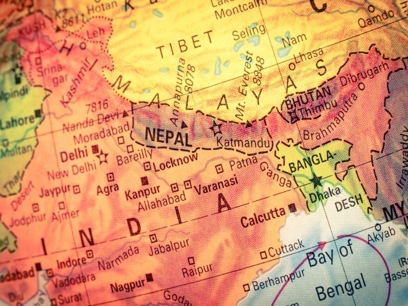 Map of Nepal and India: iStock