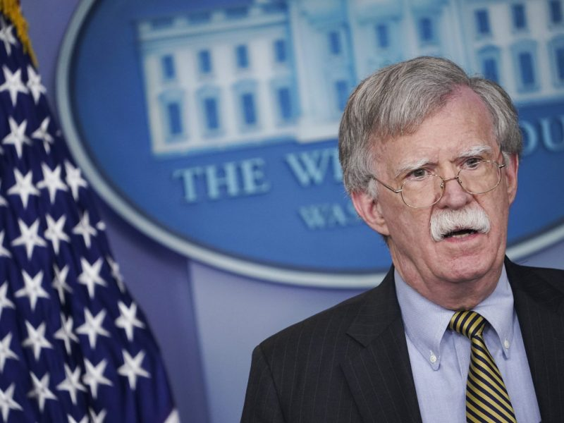 US National Security Advisor John Bolton during a briefing in the Brady Briefing Room of the White House in Washington on October 3, 2018. Photo: AFP/Mandel Ngan