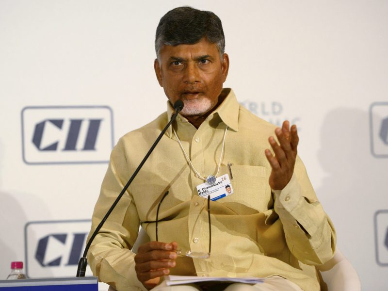 Chief Minister of Andhra Pradesh, N. Chandrababu Naidu. Photo: AFP