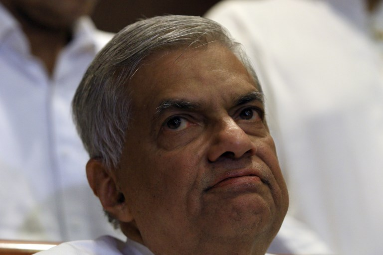Sacked Sri Lankan prime minister Ranil Wickremesinghe. Photo: AFP