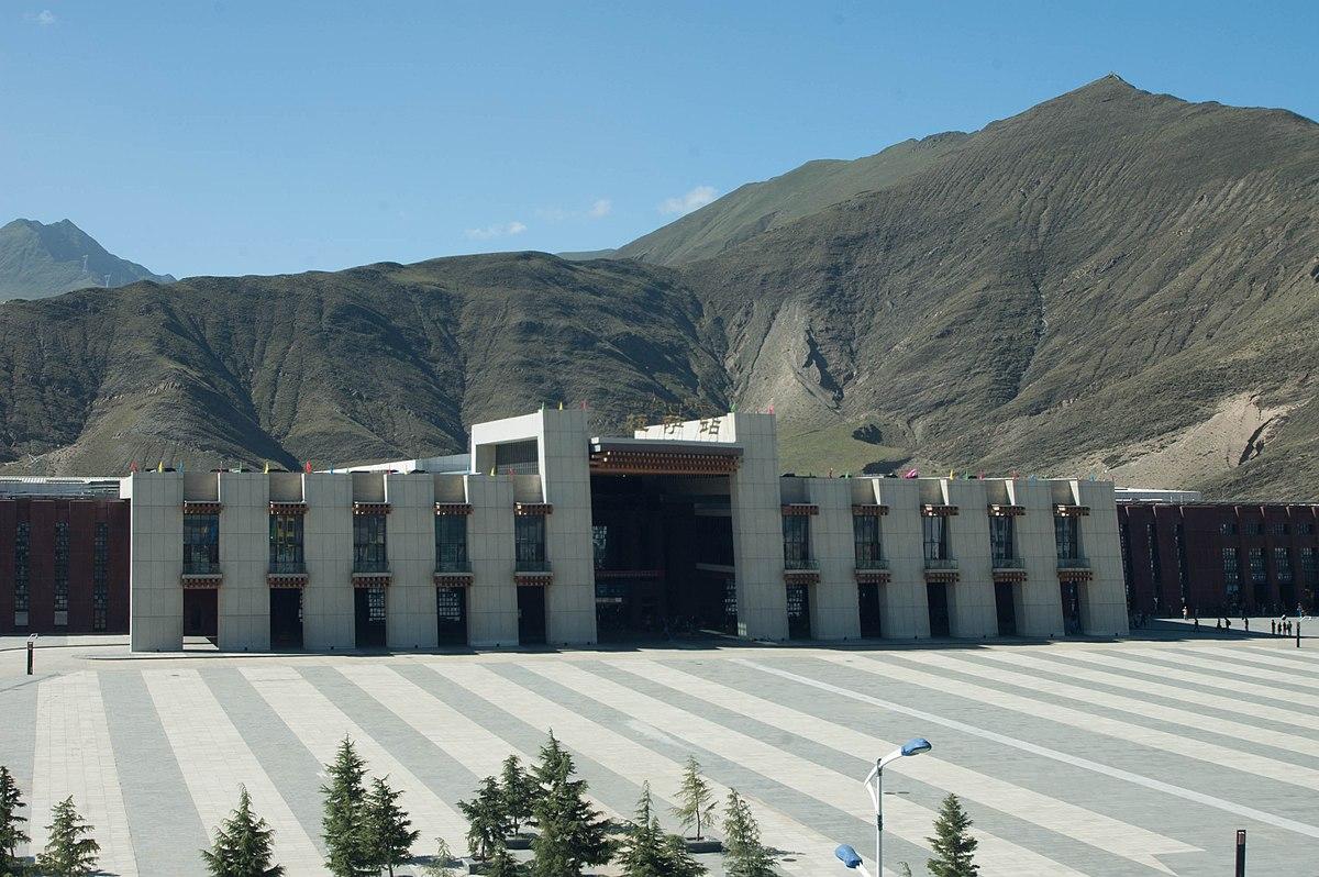 The main railway station in the Tibetan capital Lhasa. Photo: Wikimedia / Coolmanjackey
