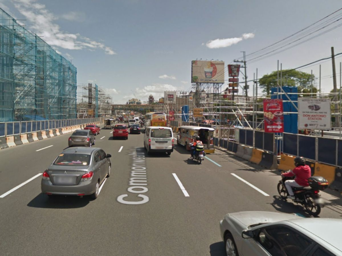 Commonwealth Avenue, Quezon City in the Philippines. Photo: Google Maps