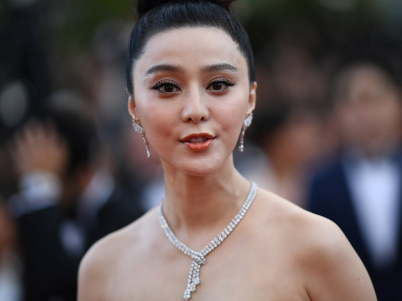 Chinese actress Fan Bingbing arrives at the opening ceremony of the 71st edition of the Cannes Film Festival in southern France. Photo: AFP /  Loic Venance