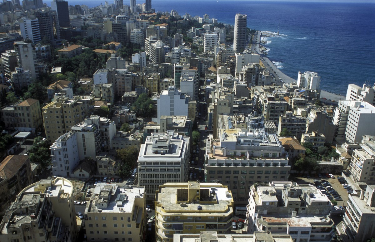An aerial view of the city center of Beirut on the coast of Lebanon. Photo: iStock/Getty Images