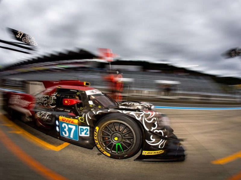 Jackie Chan DC Racing team car No 37 competes during 6 Hours of Mt. Fuji WEC in 2018. Photo: Courtesy DPPI/Jackie Chan DC Racing