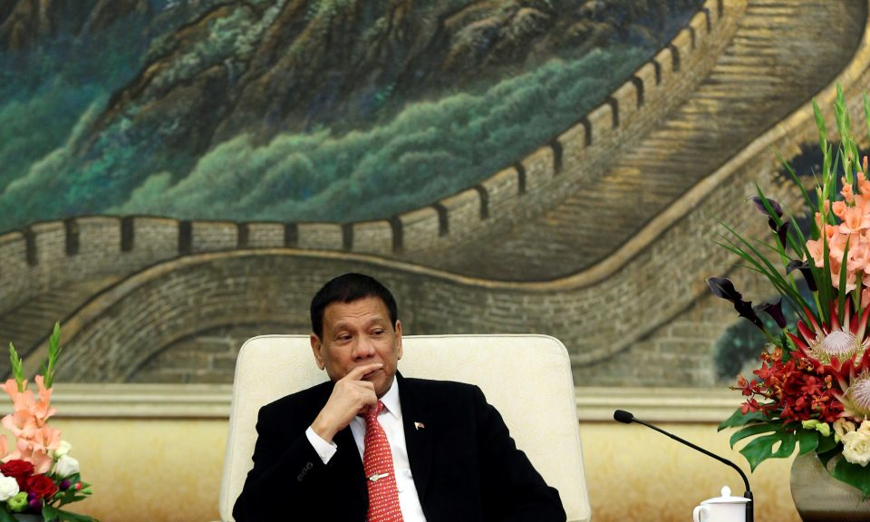 Philippines President Rodrigo Duterte in Beijing. Photo: Reuters/Wu Hong