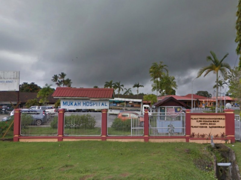 Mukah Hospital where the man's body was taken. Photo: Google Maps