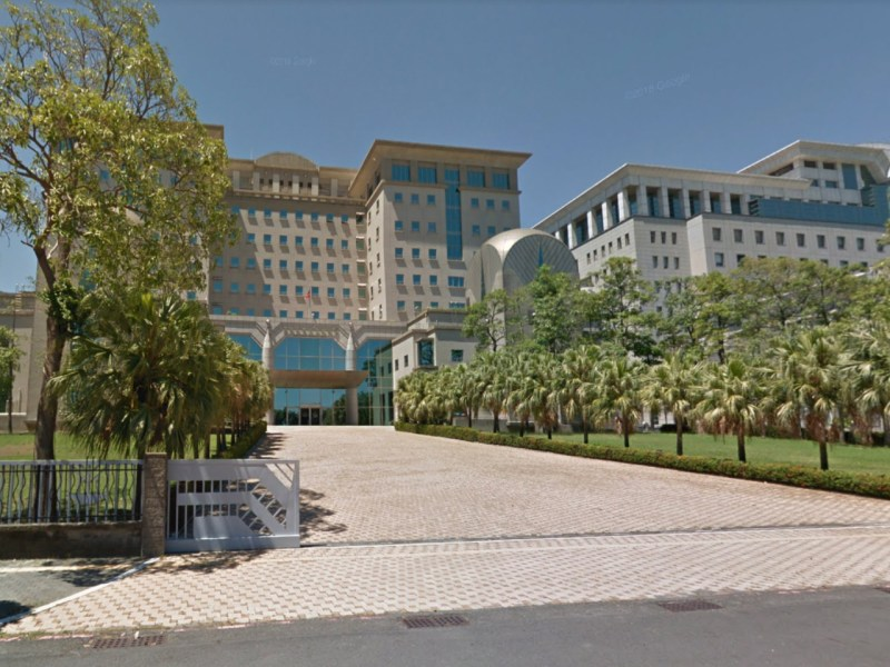 Tainan District Prosecutors Office, Taiwan. Photo: Google Maps