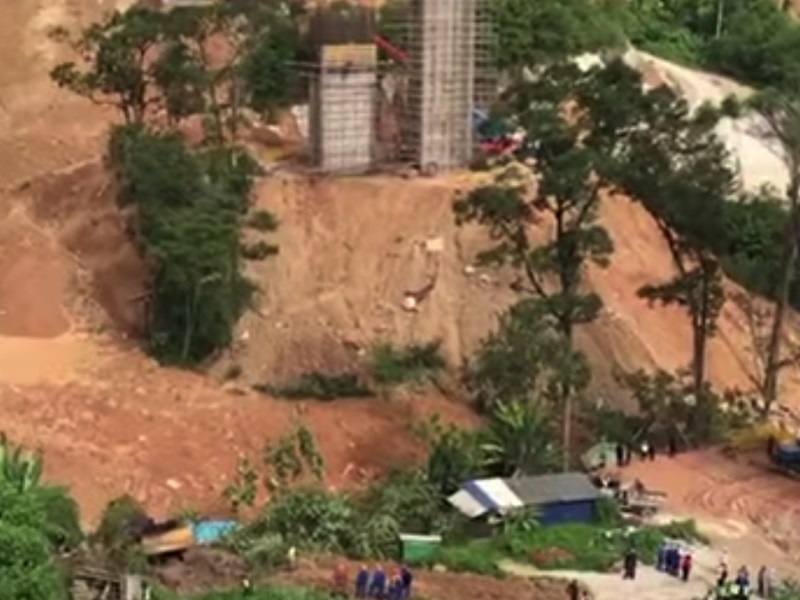 Engineers says people in charge of all worksites in Penang have neglected to reduce soil erosion and that played a part in the landslide. Photo: Screen grab from YouTube.