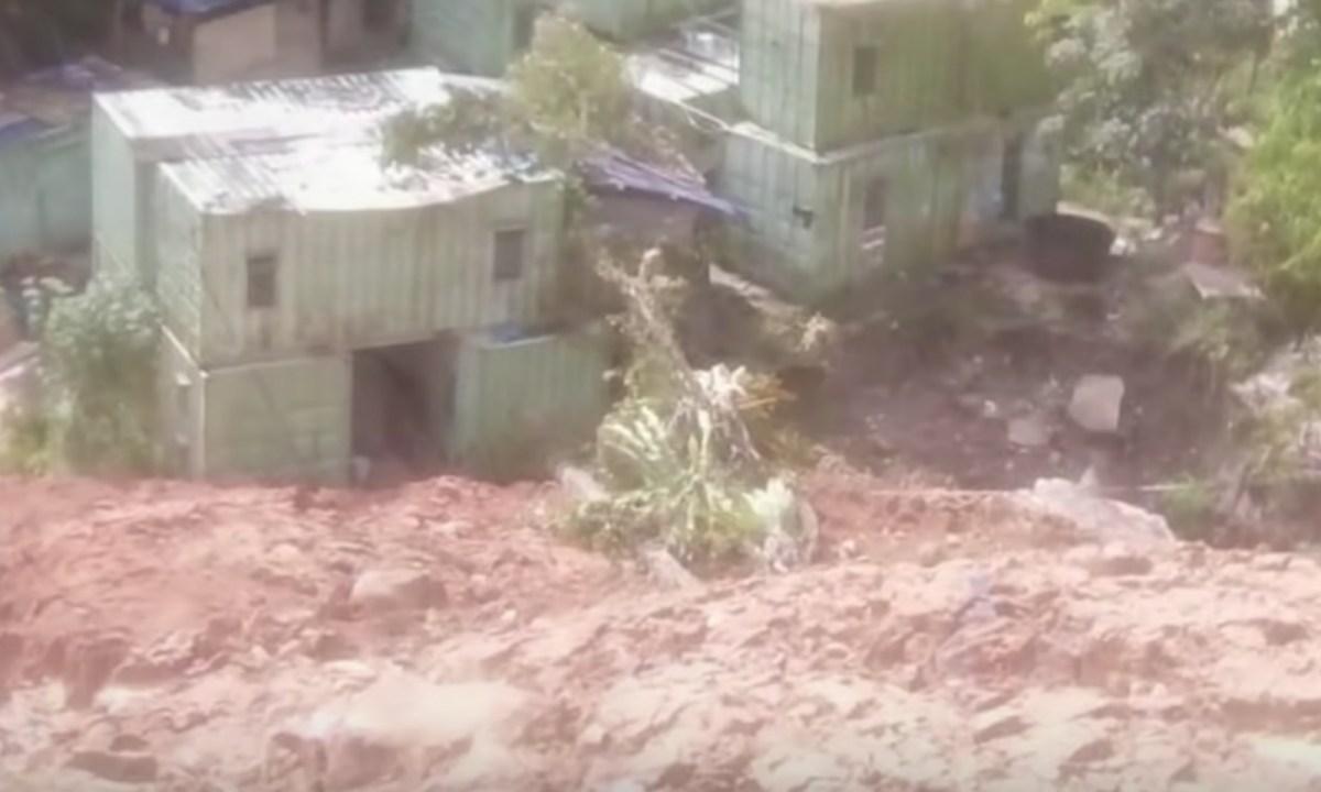 Deadly Penang landslide image captured on Youtube.