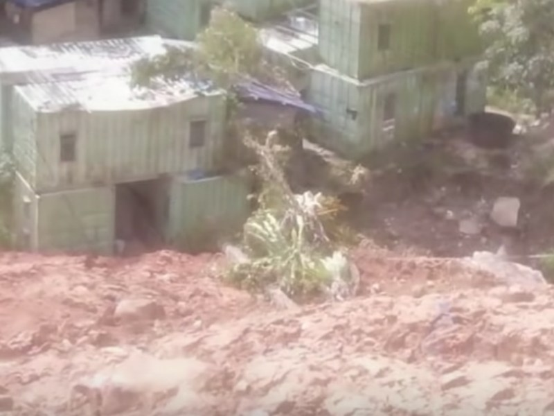 Deadly Penang landslide image captured on Youtube.
