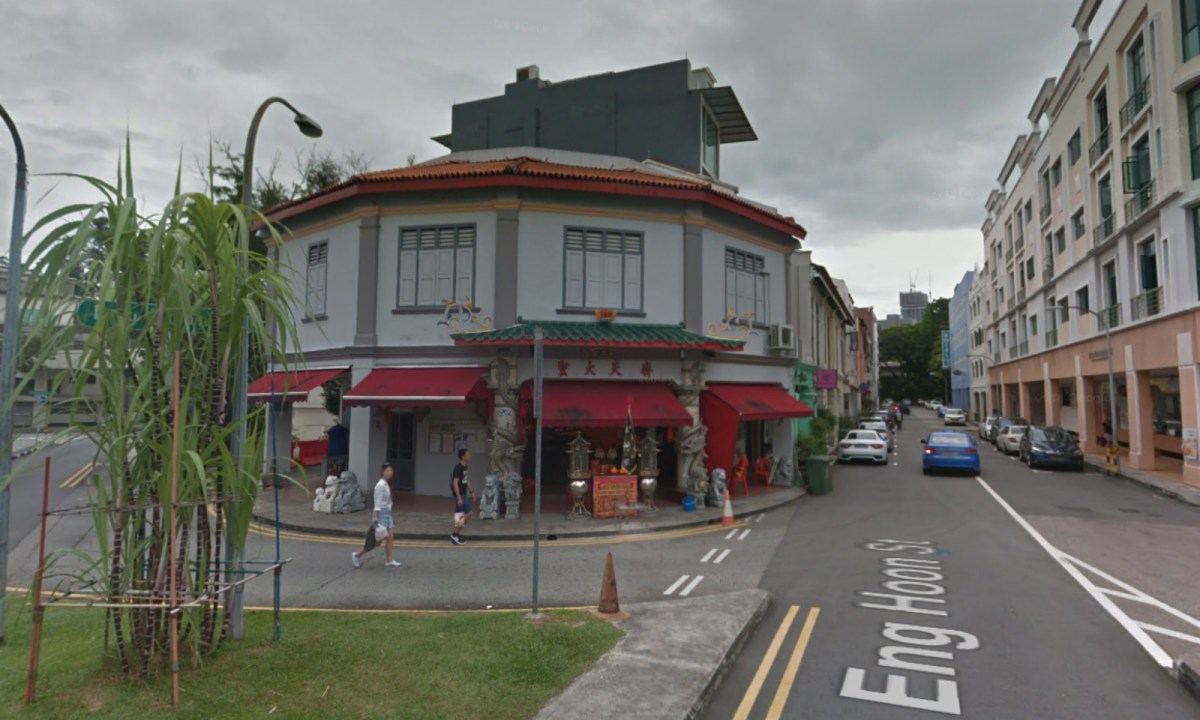 A temple in Singapore. Photo: Google Maps