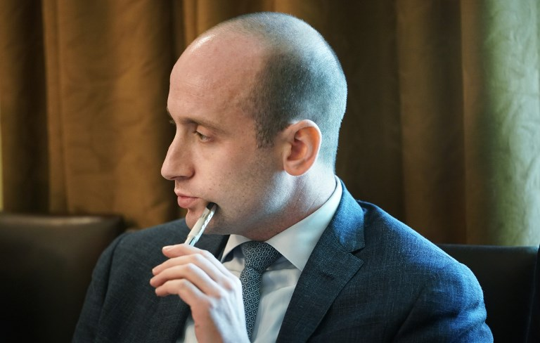 Senior adviser Stephen Miller attends a cabinet meeting in the White House on August 16, 2018. Photo: AFP / Mandel Ngan