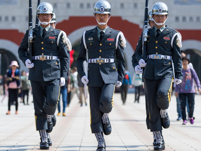 Changing of the Guard ceremony at National Revolutionary Martyrs' Shrine in Taipei, Taiwan. Photo: iStock