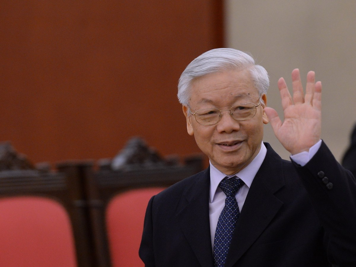 Vietnam Communist Party Secretary General Nguyen Phu Trong at the VCP's headquarters in Hanoi on October 6, 2016. Photo: AFP/Hoang Dinh Nam